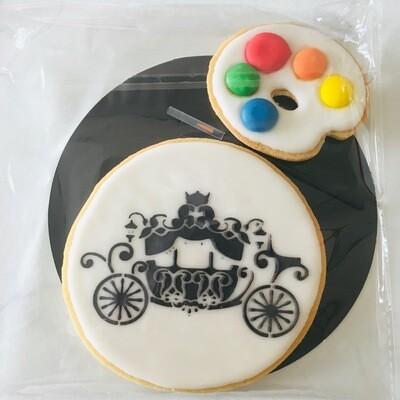 Biscuit à colorier carrosse