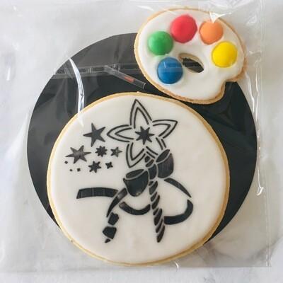 Biscuit à colorier baguette magique