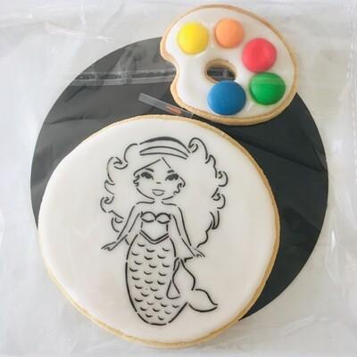 Biscuit à colorier sirène