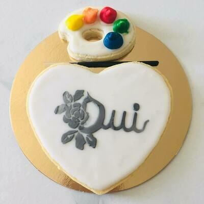 Biscuit à colorier spécial mariage oui