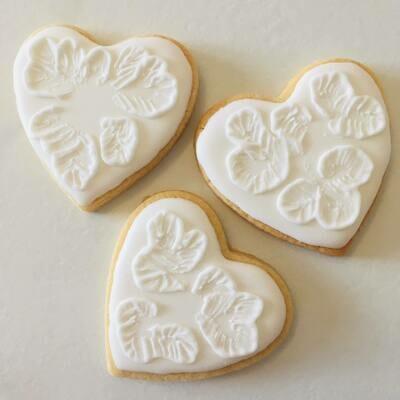 10 biscuits cœur dentelle spécial mariage