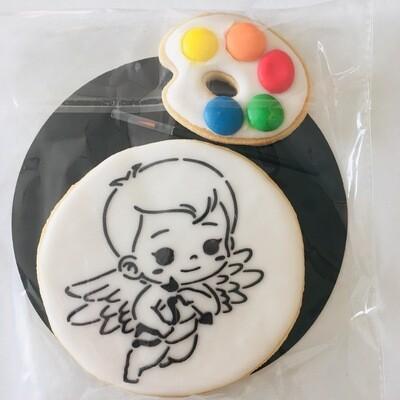 Biscuit à colorier ange