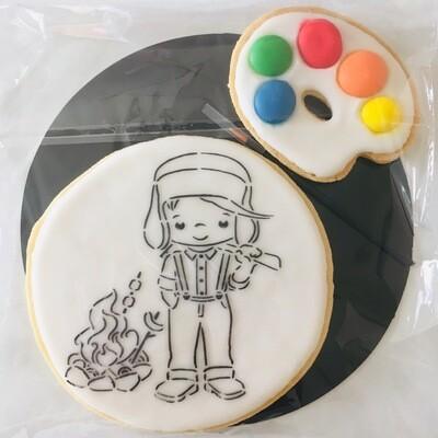 Biscuit à colorier campeur
