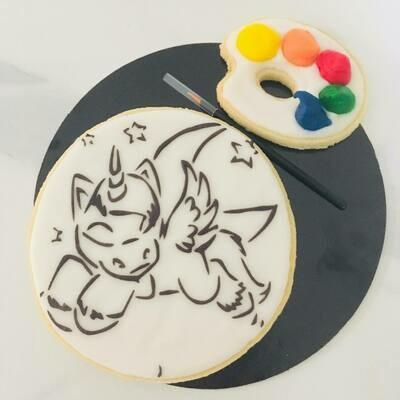 Biscuit à colorier licorne