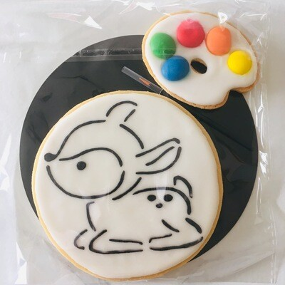 Biscuit à colorier faon