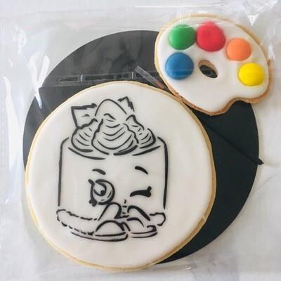Biscuit à colorier gâteau