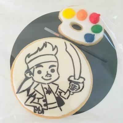 Biscuit à colorier pirate