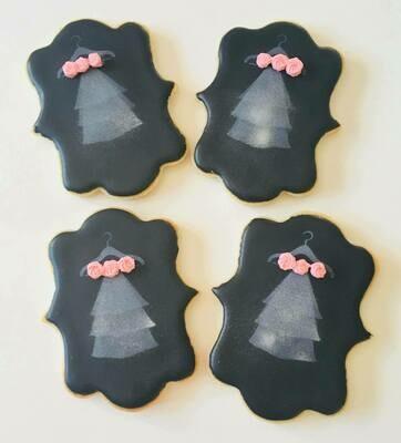 10 biscuits voile de mariée