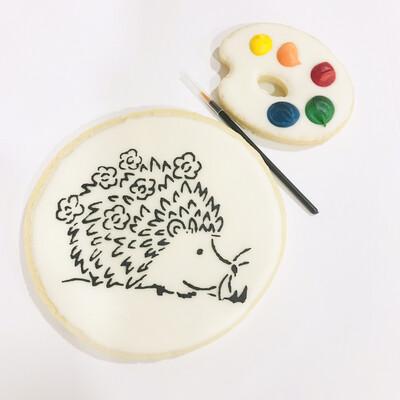 Biscuit à colorier hérisson