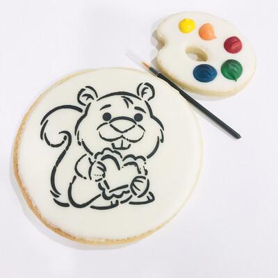 Biscuit à colorier écureuil