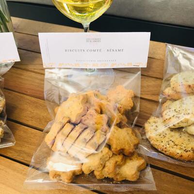 Biscuits apéritifs comté - sésame