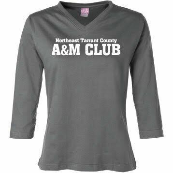 Ladies' V Neck ¾ Sleeve T-shirt