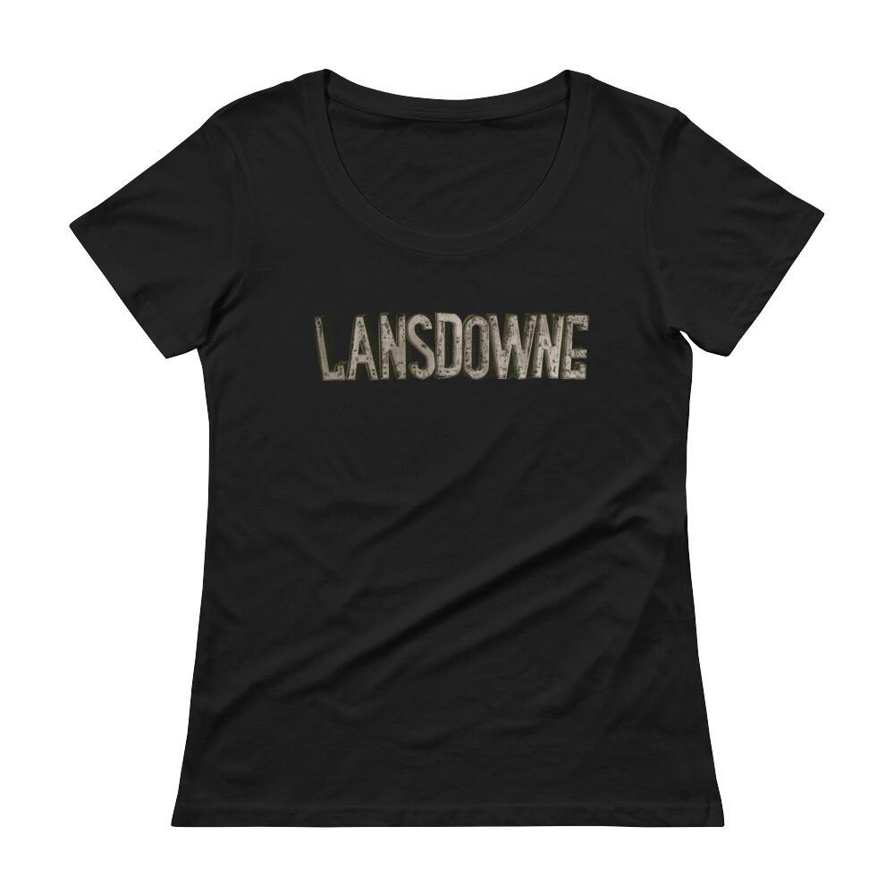 Lansdowne Theater Marquee - Ladies' Scoopneck T-Shirt