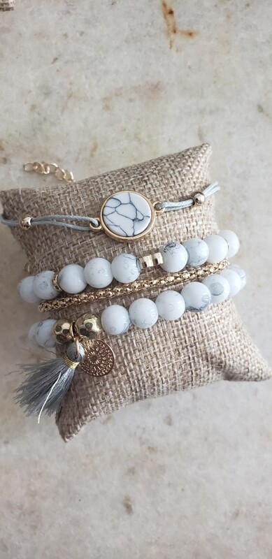 Charm Bracelet - Marble
