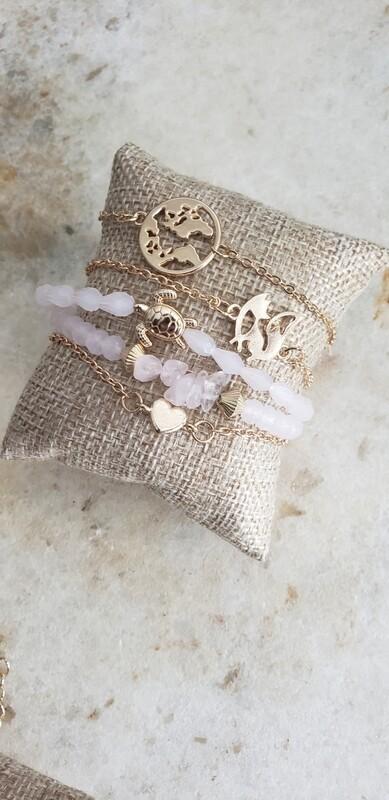 Charm Bracelet - Blush