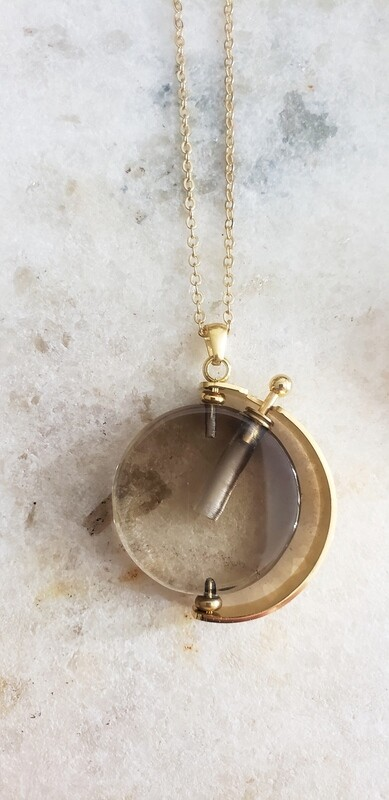 Elixir Necklace 18k Gold - Smoky Quartz
