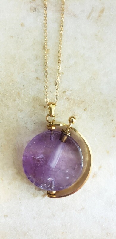 Elixir Necklace 18k Gold - Amethyst