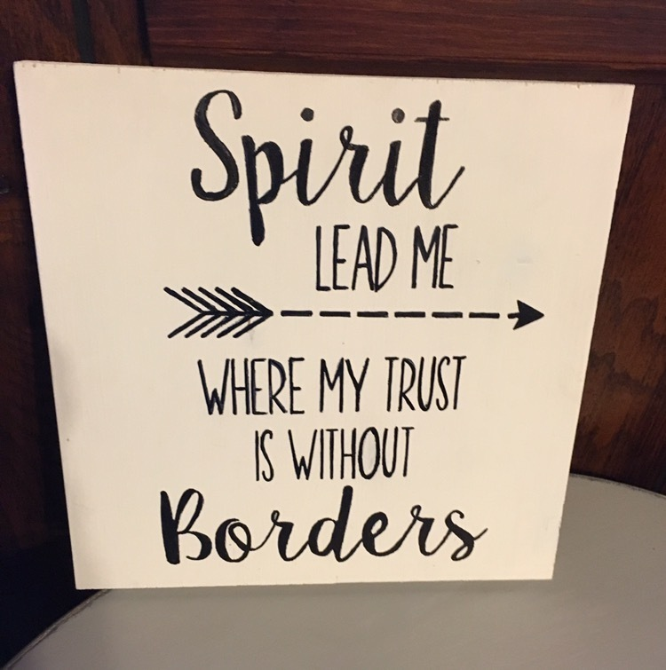 SPIRIT LEAD ME Decorative Sign