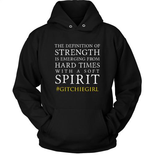 #GitchieGirl - Tough Times/Soft Spirit Long Sleeve Unisex Hoodie (Black)