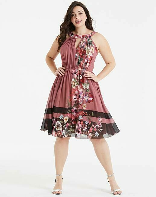 Gėlėta puošni suknelė