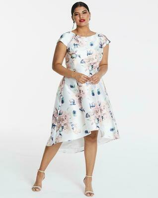Gėlėta midi suknelė