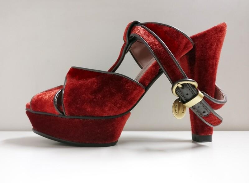 Beautiful Velvet shoes by Adolfo Dominguez