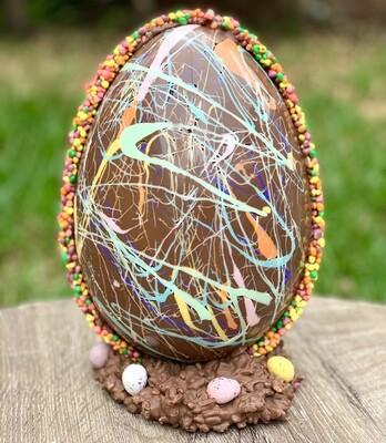 Giant Jackson Pollock Easter Egg