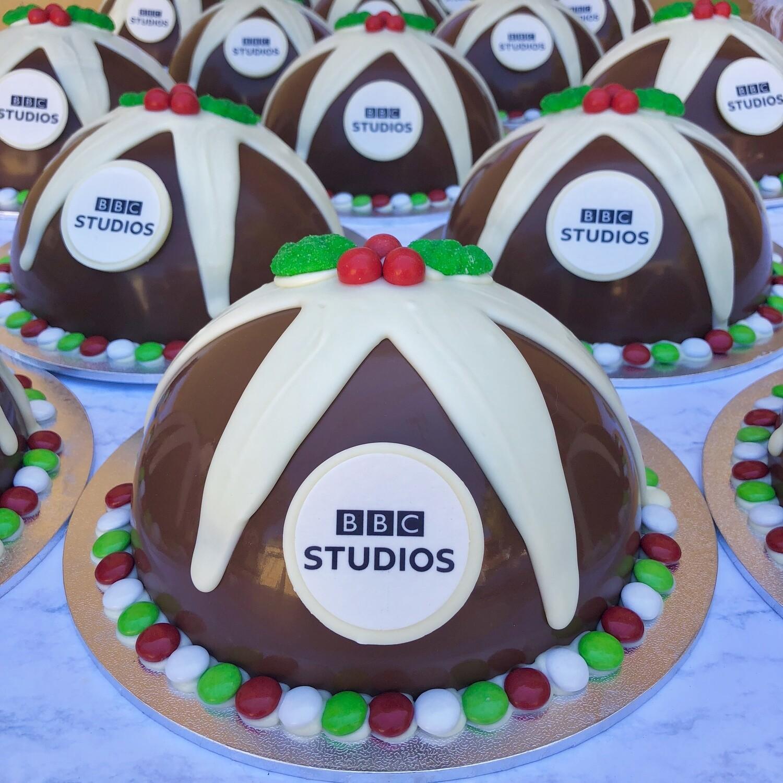 Medium Branded Christmas Puddings