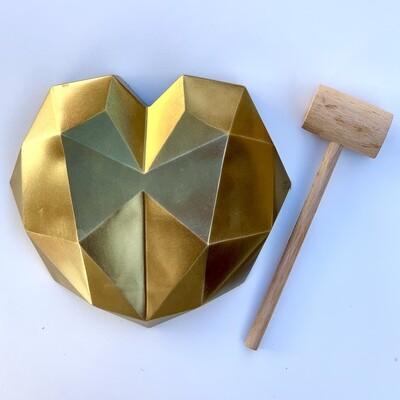 Geo Heart Gold