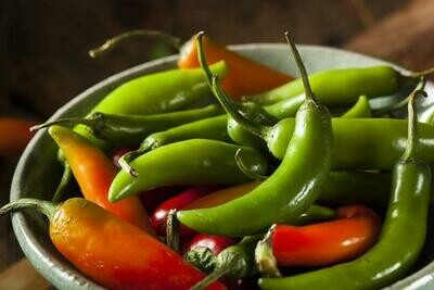 Chillies (Green) - 100g