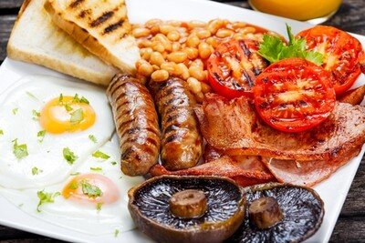 Full English Breakfast Box  - (please select)