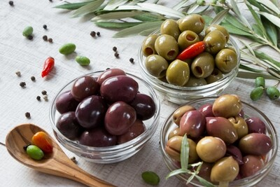 Black & Green Pitted Olives - 240g