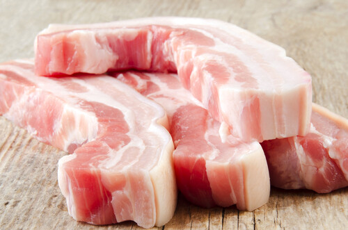 Mini Belly Pork Slices, bone in - (Please select)