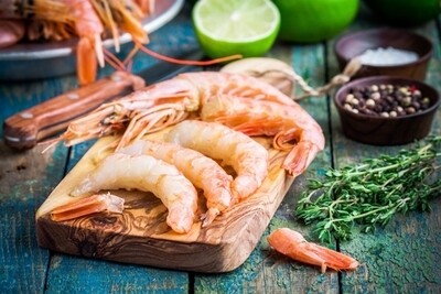 Raw Peeled & De-veined Tiger Prawns (Frozen) - 1kg
