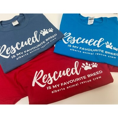 Clothing - Rescued is my Favourite Breed - T-Shirt