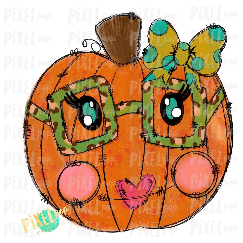 Funky Nerd Pumpkin with Glasses Sublimation PNG | Hand Drawn Digital Design | Sublimation PNG | Digital Download | Printable Artwork | Art