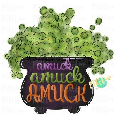 Amuck Cauldron Halloween Sublimation PNG | Hand Drawn Sublimation Design | Sublimation PNG | Digital Download | Printable Artwork | Art