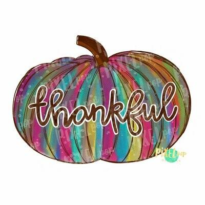 Pumpkin Thankful Watercolor Sublimation PNG | Hand Drawn Sublimation Design | Sublimation | Digital Download | Printable Artwork | Art