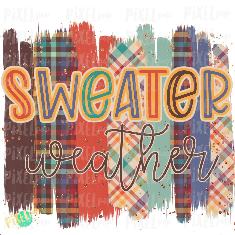 Sweater Weather Plaid Brush Stroke Background Sublimation PNG | Plaid Background | Golden | Transfer | Digital Print | Printable | Clip Art