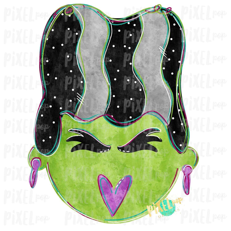 Bride of Frankenstein Digital Sublimation PNG   Hand Drawn Sublimation Design   Sublimation PNG   Digital Download   Printable Artwork   Art
