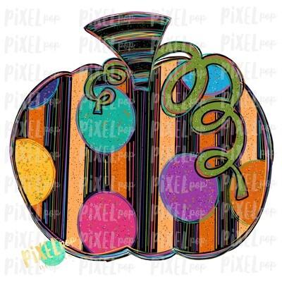 Striped and Speckled Pumpkin Sublimation PNG | Hand Drawn Sublimation Design | Sublimation PNG | Digital Download | Printable Artwork | Art