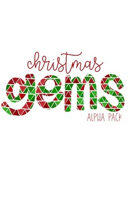 Christmas Gems Hand Drawn Digital Alphabet PNG Letter Set | Alphapack Font | PNG | Art | Sublimation Doodle Letter | Transfer Letters