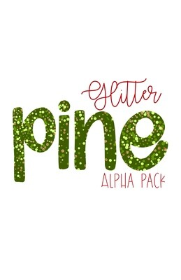 Glitter Pine Hand Drawn Digital Alphabet PNG Letter Set | Alphapack Font | PNG | Art | Sublimation Doodle Letter | Transfer Letters