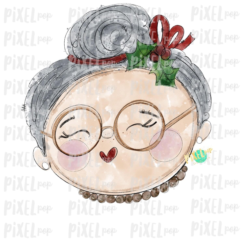 Mrs Claus Santa's Wife Watercolor PNG | Christmas Sublimation | Santa Claus | Art | Sublimation PNG | Digital Download | Printable Artwork