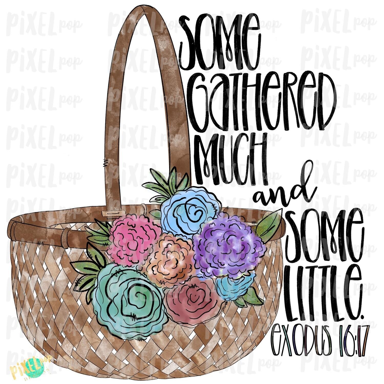 Floral Easter Baset Some Gathered Much Watercolor PNG   Sublimation Design   Easter Design   Digital Download   Printable Art   Clip Art