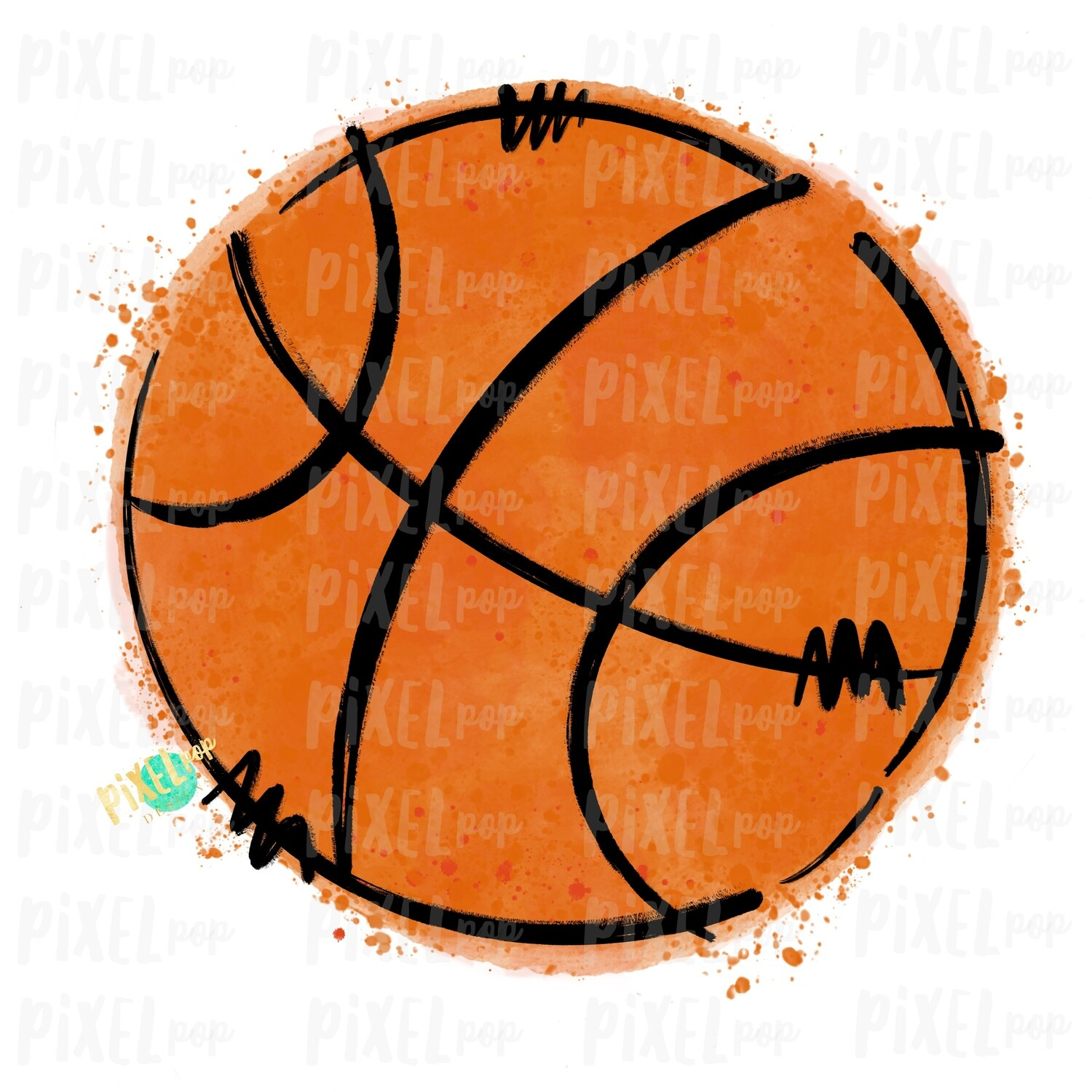 Basketball Watercolor Sublimation PNG Design | Basketball | Sublimation Design | Heat Transfer | Digital Download | Printable Artwork