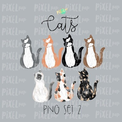 Cat Pets Set 2 for Stick Figure People Family Members Art PNG Sublimation | Family Ornament | Family Portrait Images | Digital Download