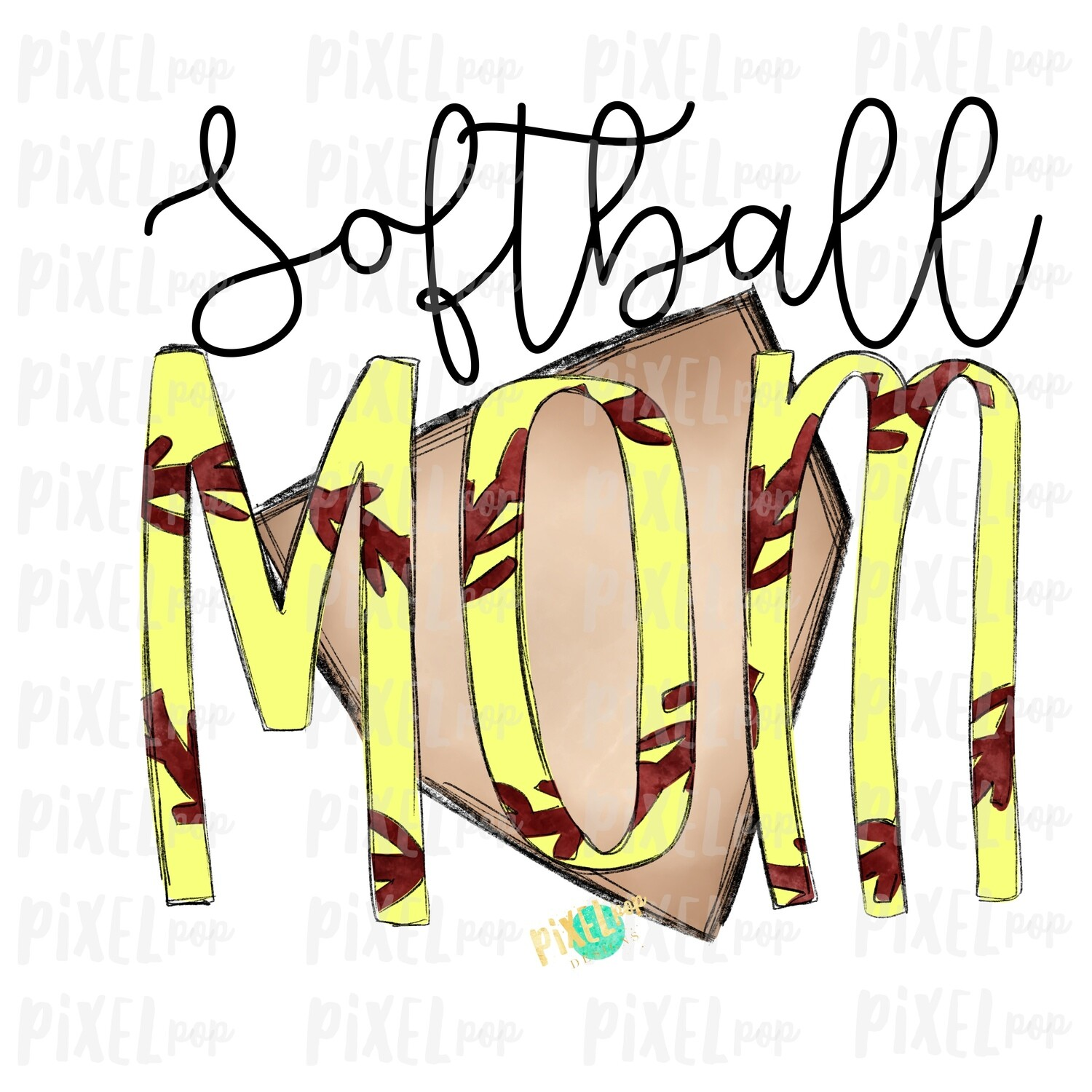 Softball Mom Home Plate Sublimation PNG Design | Softball Design | Sublimation Design | Heat Transfer | Digital Download | Printable Artwork