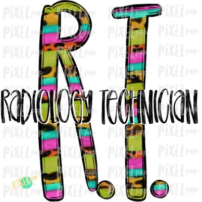 Radiology Technician RT Bright Sublimation Design | Sublimation | Hand Drawn Art | Nursing PNG | Medical Art | Digital Download | Art Clipart