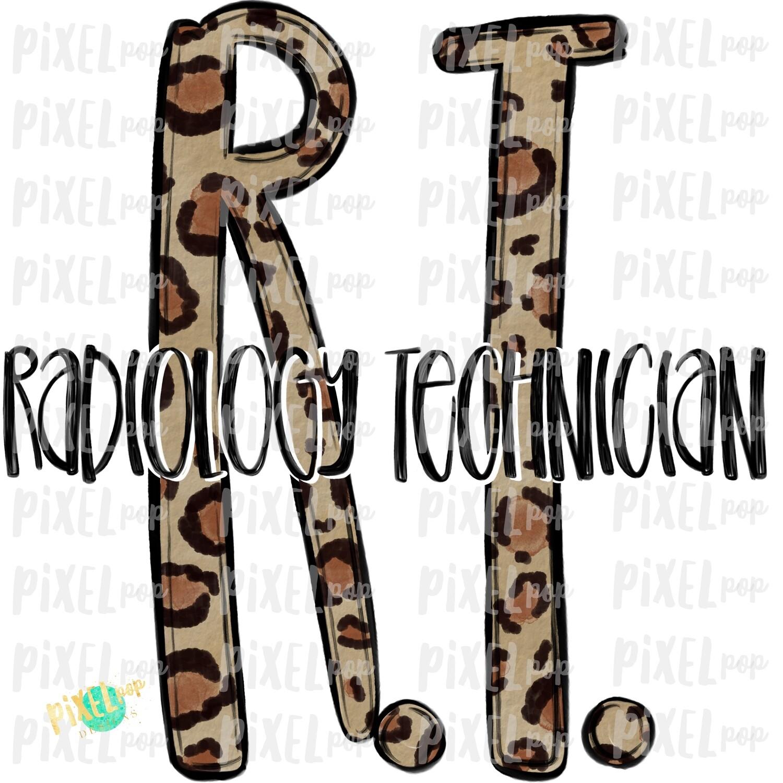 Radiology Technician RT Leopard Sublimation Design | Sublimation | Hand Drawn Art | Nursing PNG | Medical Art | Digital Download | Art Clipart
